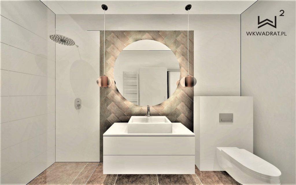 Architekt Wnetrz Brodnica - łazienka w obiekcie Oasis