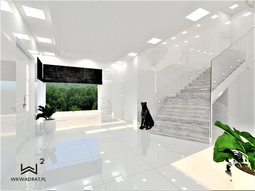 PROJEKTOWANIE I ARANŻACJA - ARCHITEKT WNĘTRZ BRODNICA 2-aranzacja-holu-w-domu-glamour-pracownia-wkwadrat-pl