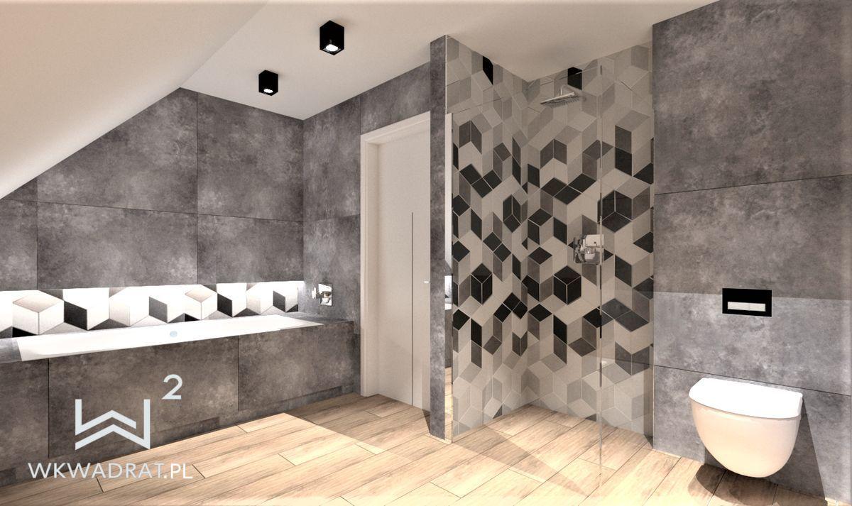 PROJEKTOWANIE I ARANŻACJA - ARCHITEKT WNĘTRZ BRODNICA projekt-łazienki-5-dom-jednorodzinny-projektowanie-wnętrz-pracownia-wkwadrat-pl-3